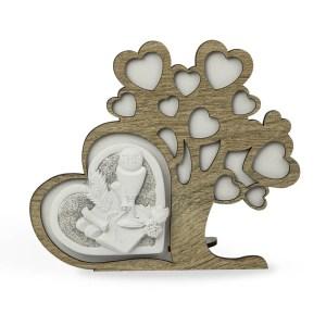 Bomboniera albero in legno con cuore comunione-0