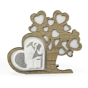 Abero della vita in legno con cuore cresima-0