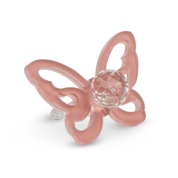 Bomboniera decorativa ciuccio con farfalla rosa-0
