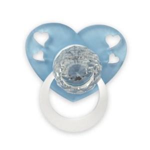 Bomboniera ciuccio con cuore azzurro-0