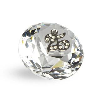 Bomboniera diamante cristallo con applicazione 25°-0