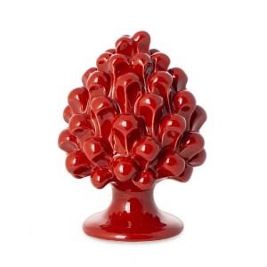 Bomboniera pigna rossa di Caltagirone h. 10 cm -0
