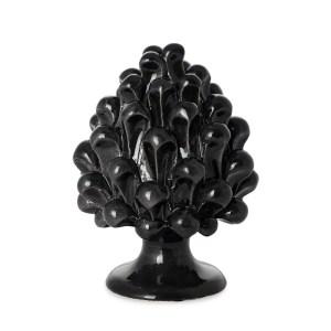 Bomboniera Pigna di Caltagirone colore nero H 10 cm -0