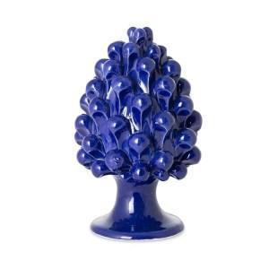Pigna di Caltagirone blu h. 15 cm. -0