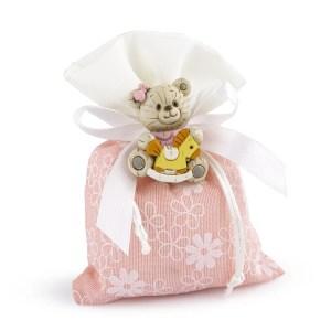 sacchetto margherita rosa con orsetto