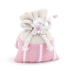 sacchetto bella rosa con orsetto