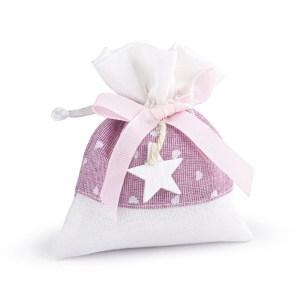sacchetto con stella legno rosa