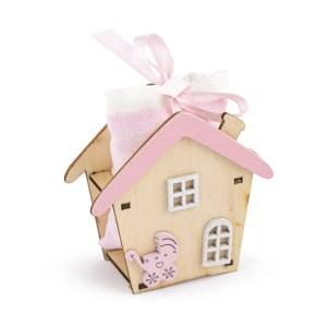 portaconfetti casa baby rosa