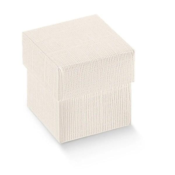 scatola bomboniera seta bianco 30x30x30 cm