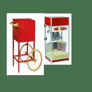 popcornwagentje + machine