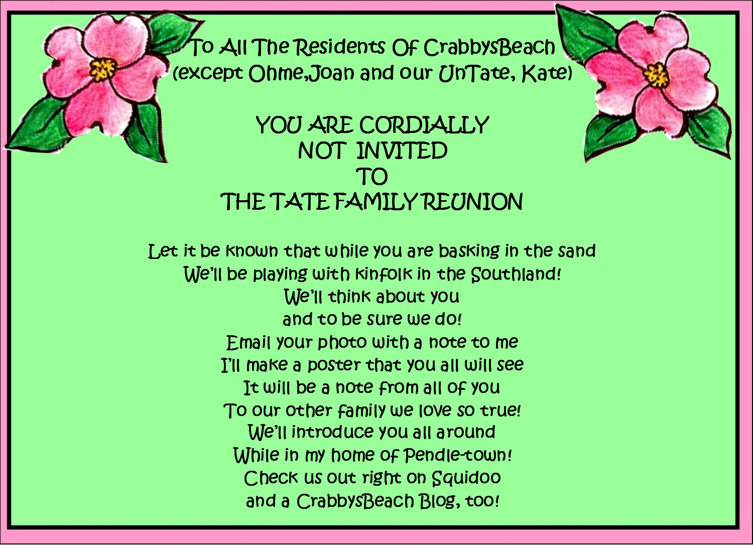 17  family reunion party invitations  u2013 party ideas
