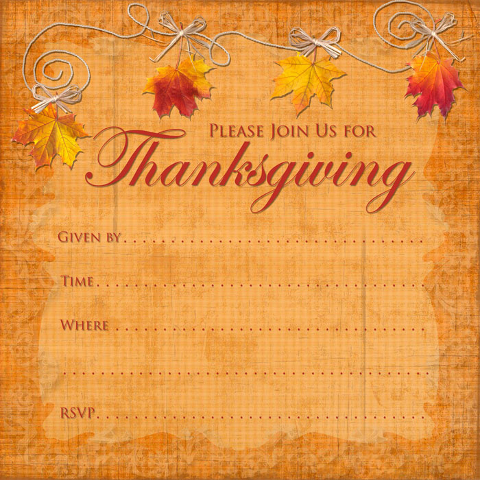 Thanksgiving Party Invitation | Party Ideas