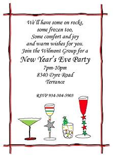 new year celebration invitation message