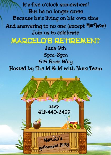 100 retirement party invitations
