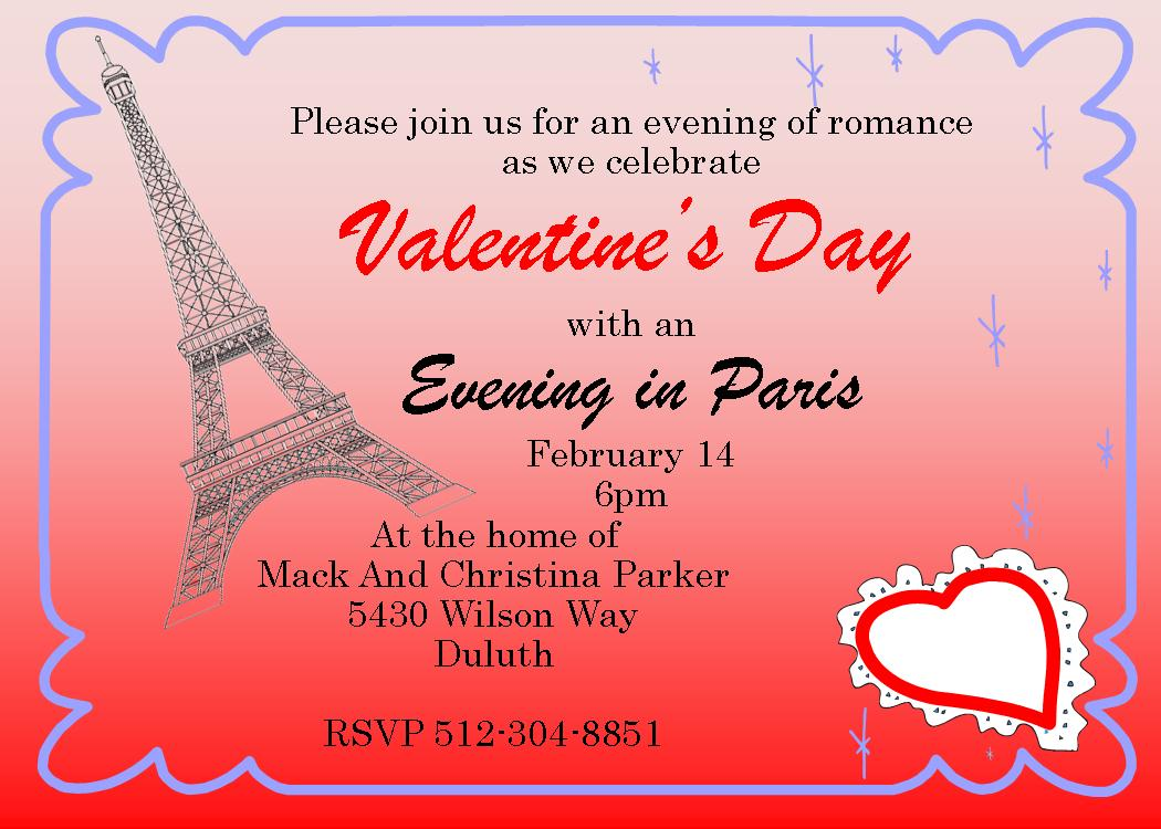 Valentines Day Party Invitations 2019