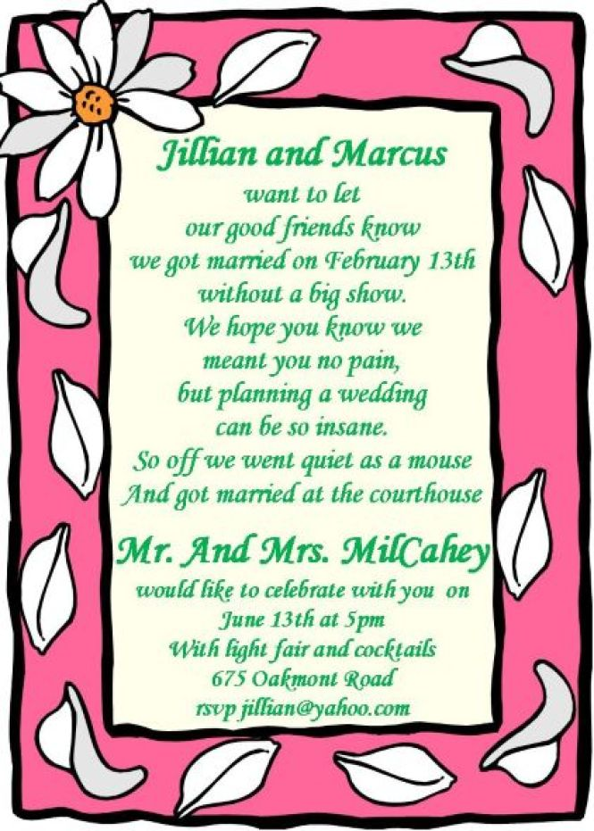 Wedding After Party Invitations Invitatioin Designs
