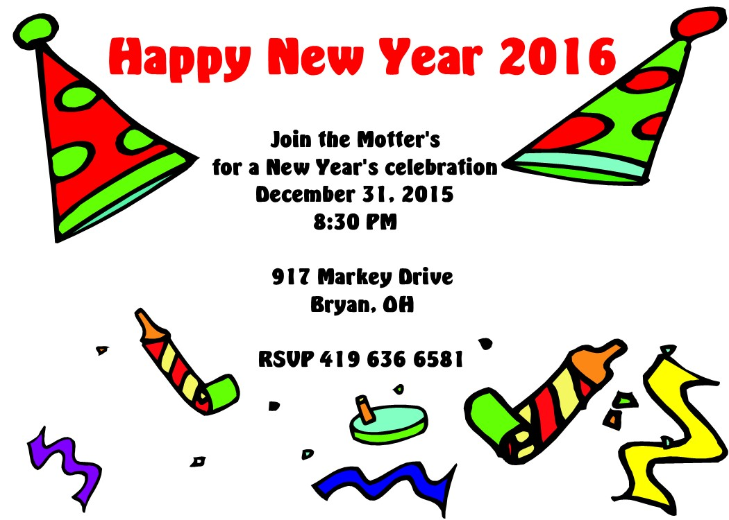 Happy New Year Party Invitation – Merry Christmas And Happy New ...