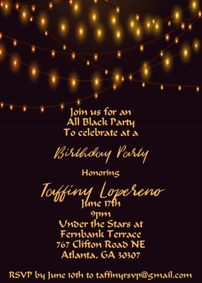 21st Birthday Party Invitations New