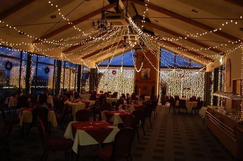 fairy light curtain lighting hire by