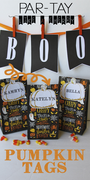 pumpkin tags pin