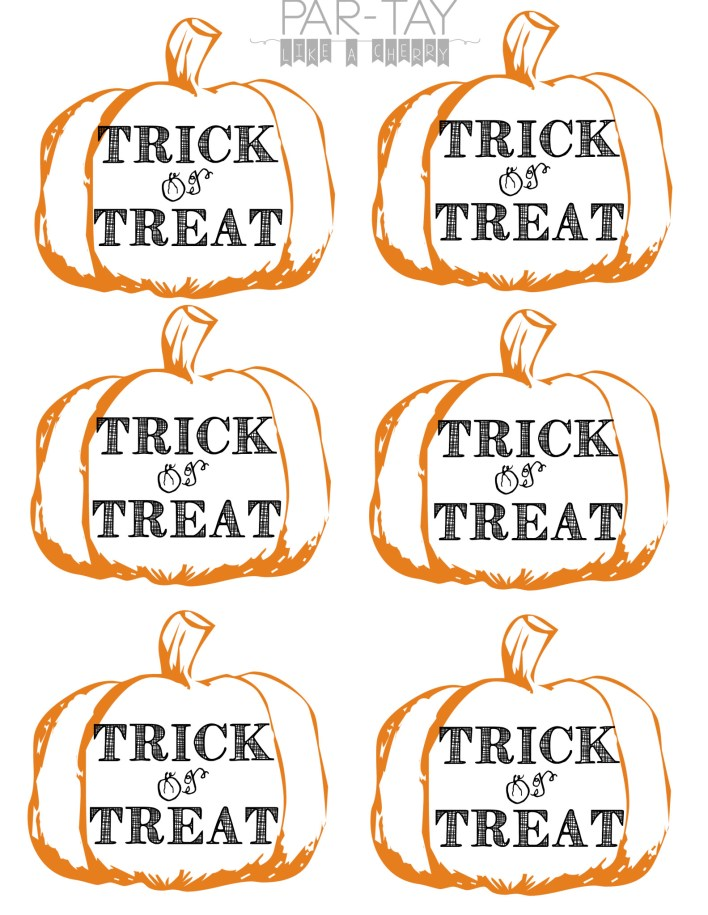 trick or treat tags