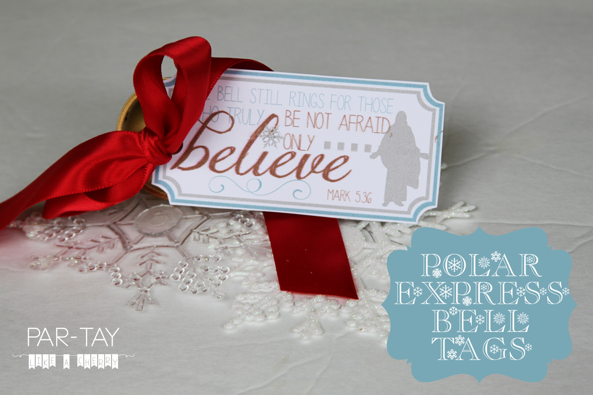 Polar Express Bell Tags Party Like A Cherry