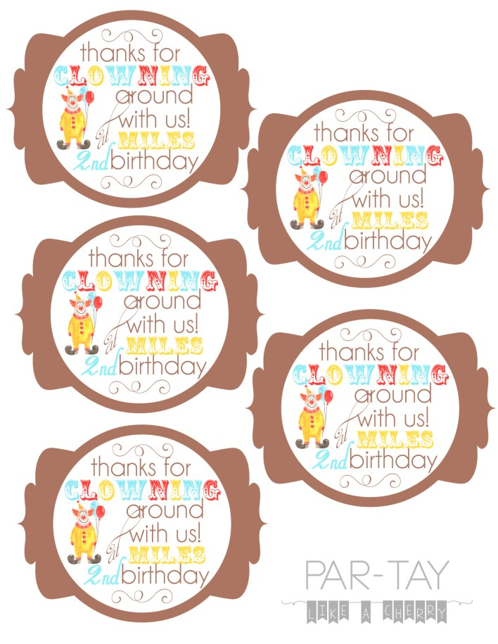 have these circus favor tags personalize for your childs birthday for a small fee, or print the free version!