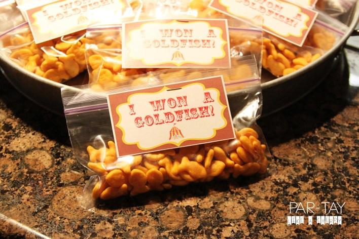 i won a goldfish free circus party printable