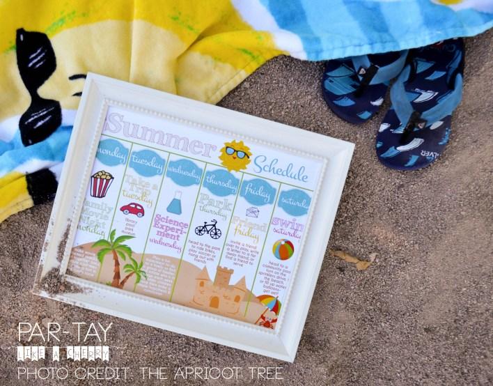 free summer weekly calendar printable