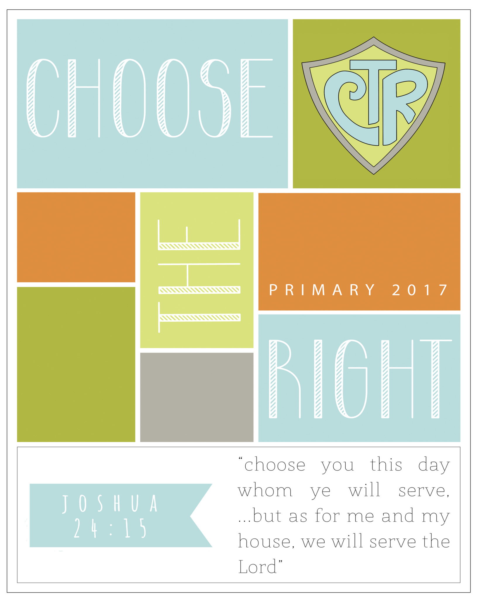 Primary Theme Choose The Right Posters