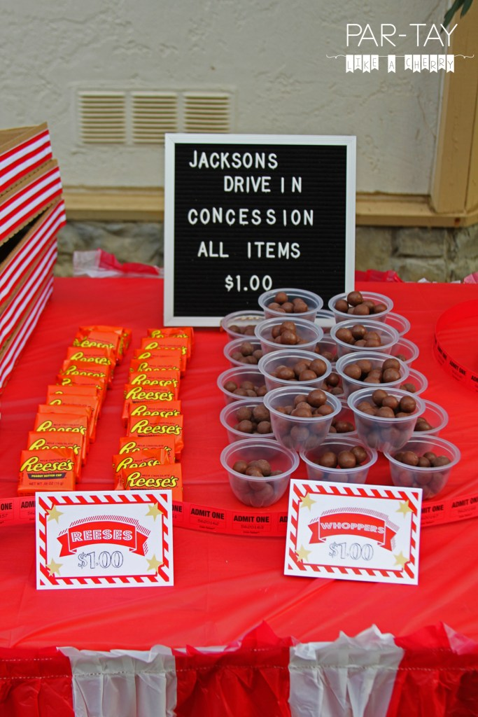movie party treat ideas and free printables