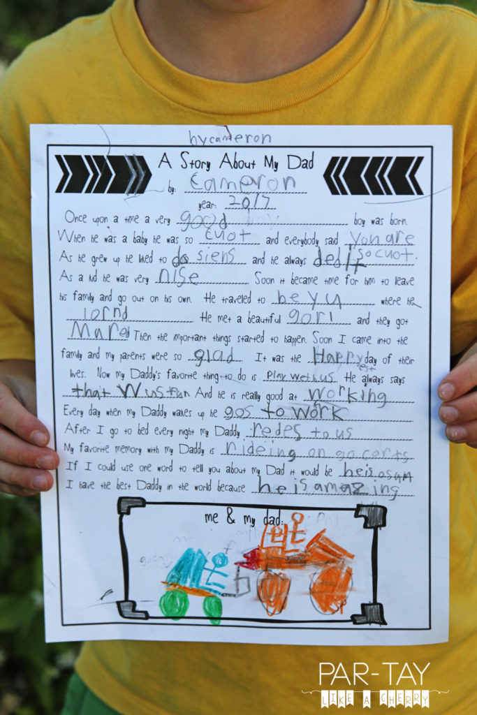 father's day mad libs free printable