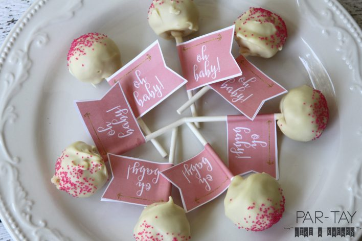 cake pops baby shower free printable tags
