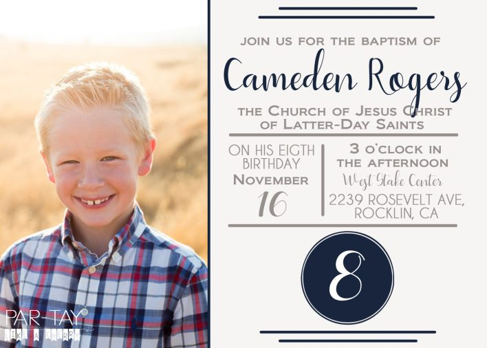 Free LDS baptism announcement template, or have it personalized for just $5