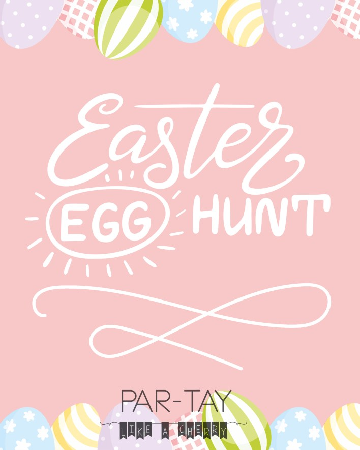 free 8X10 easter egg hunt print perfect for your easter gathering