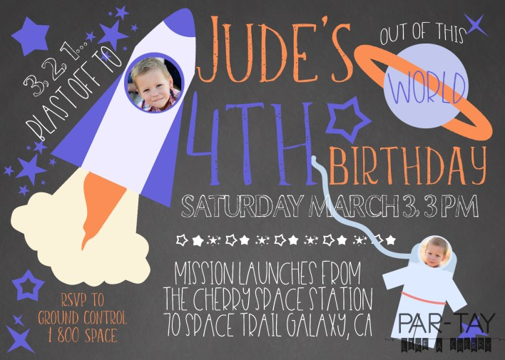 free space party invitation template