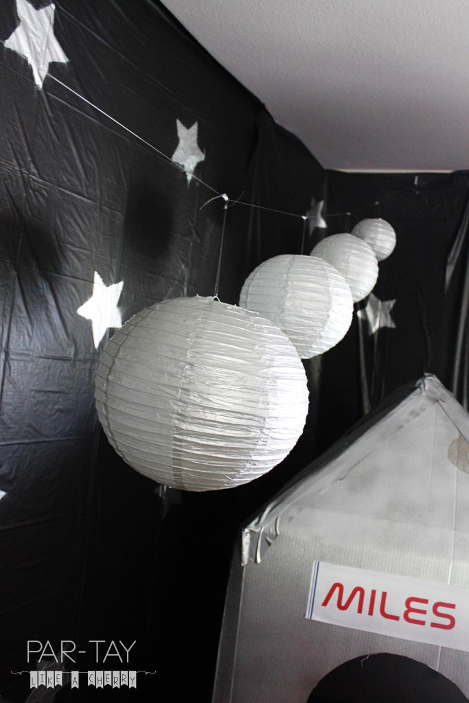 use paper lanterns for planets