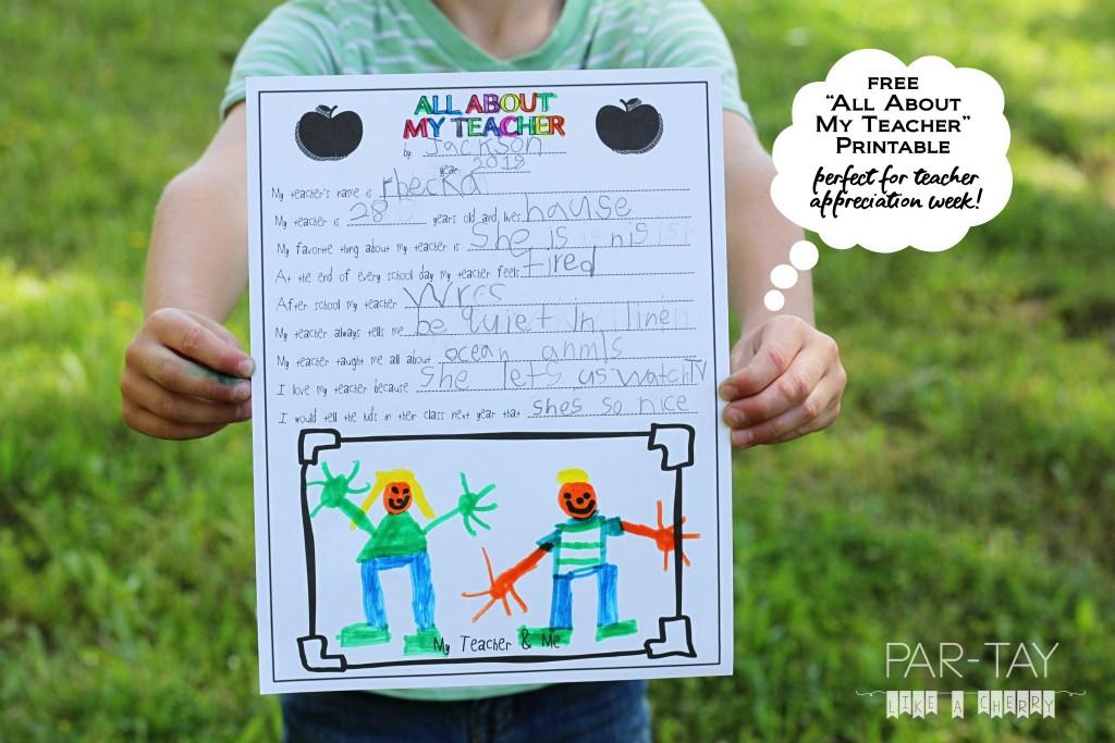 Free printable teacher appreciation gift idea