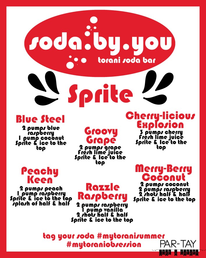 free printable soda bar menu