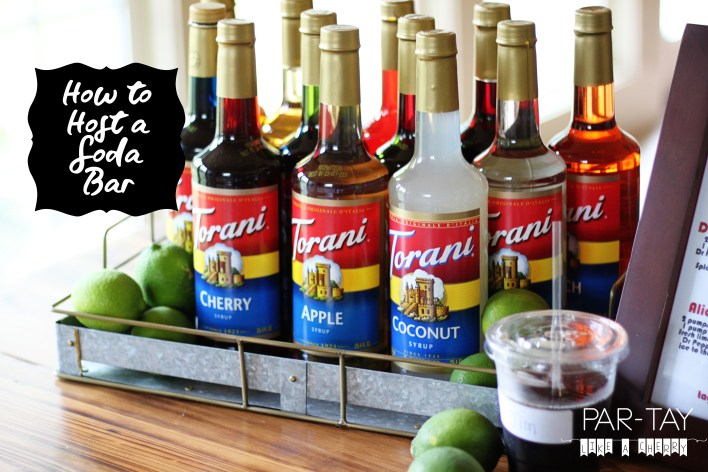 how to host a soda bar with torani