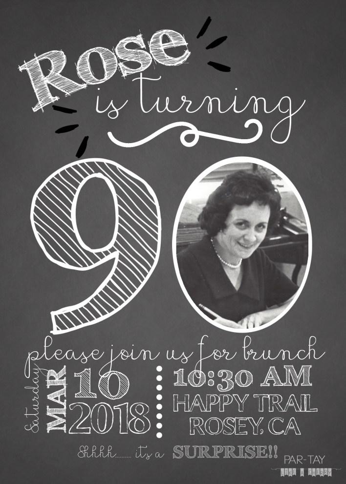 milestone birthday invitation