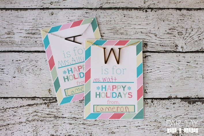 teacher gift idea perfect for the holidays along with free printable and discount code