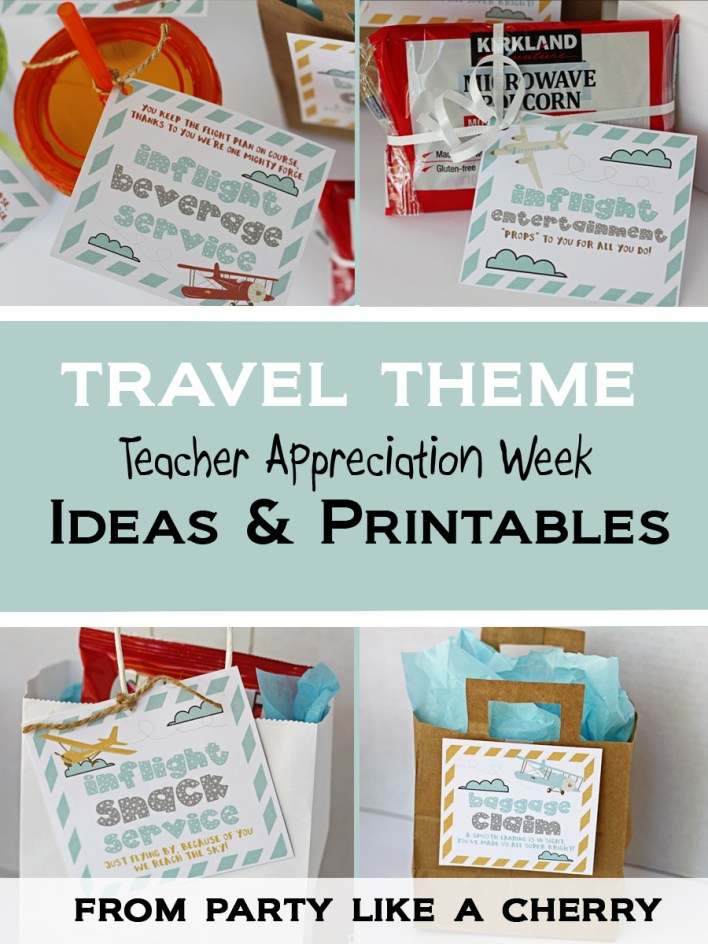 host a fun travel themed Teacher Appreciation Week with these ideas and free printables. Head to the site now to print them out!