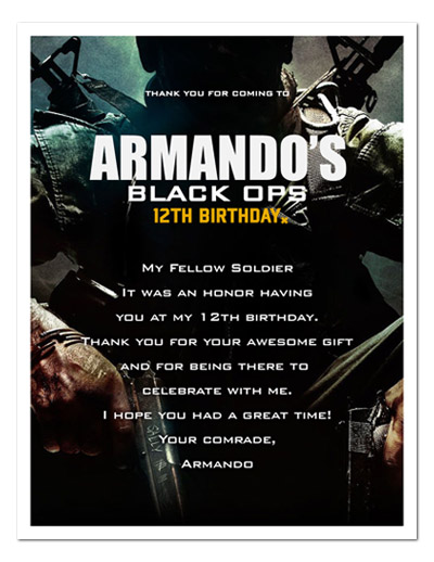 call of duty black ops birthday party