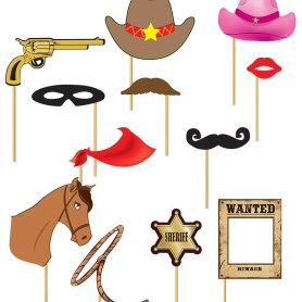 Western-themed photo props