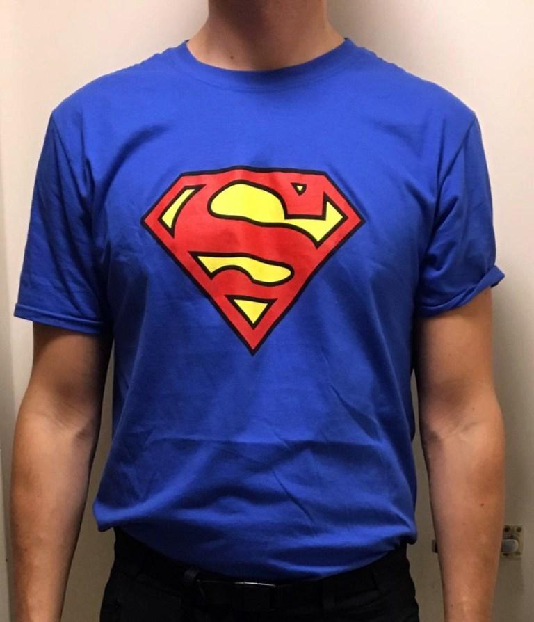 Customer Superman t-shirt
