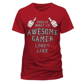 Awesome gamer t-shirt