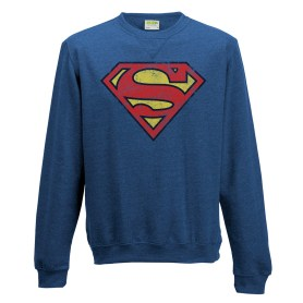 Superman sweater distressed logo