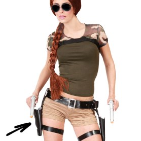 Double holster with guns