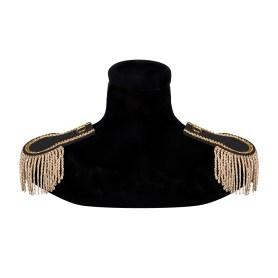 Epaulettes with lashes – gold-black